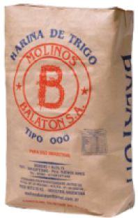 Molino Balaton harinas 000 bolsas 25kg 50 kg