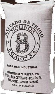 Molino Balaton harinas salvado bolsas 25 kg 50 kg