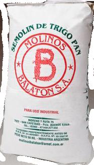Molino Balaton harinas semolin bolsas 50 kg y 25kg